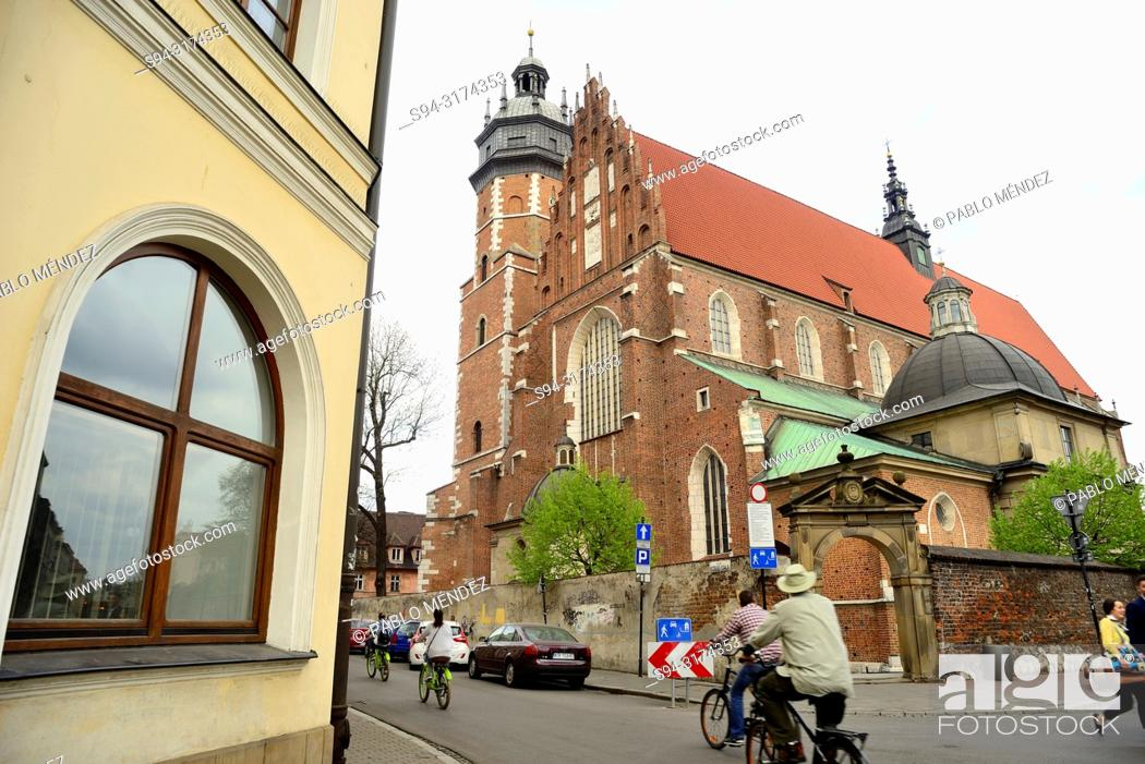 Stock Photo: Corpus Christi church of Kazimierz, Krakow, Poland.