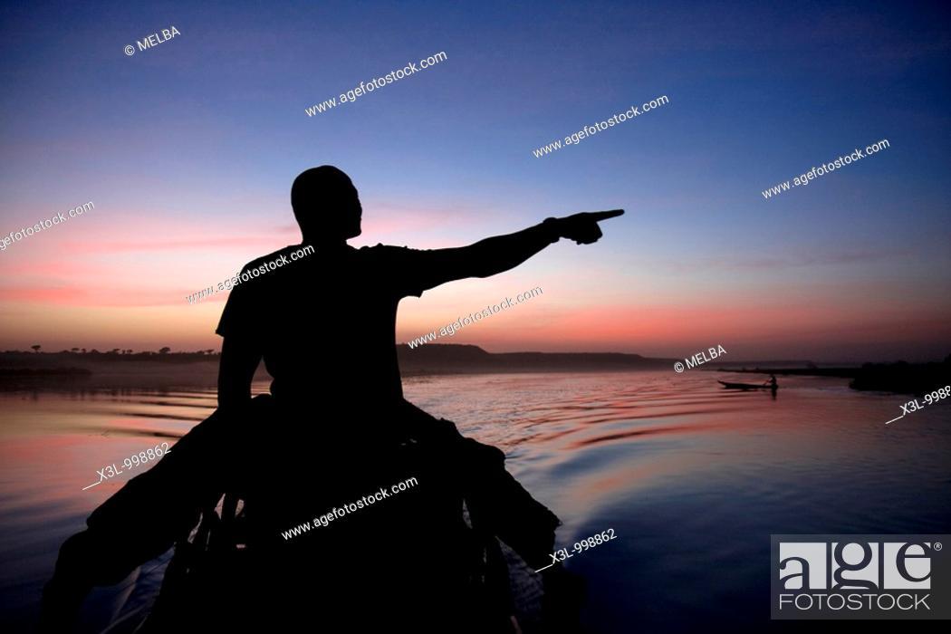 Stock Photo: Niamey  Niger River  Niger.