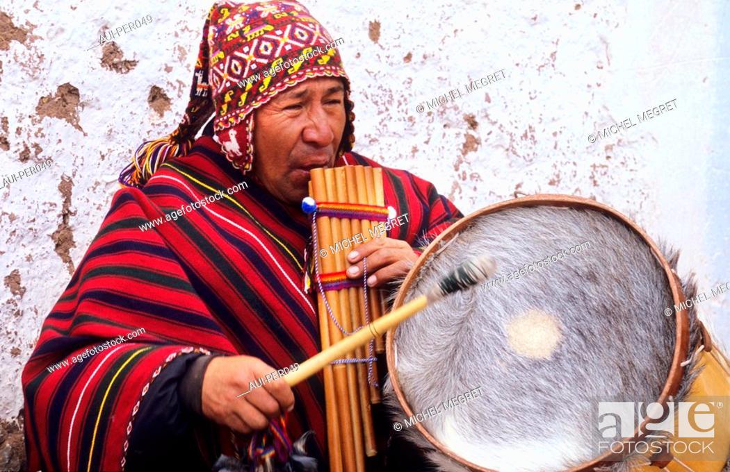 Stock Photo: Peru - Chincheros surroundings of Cusco.