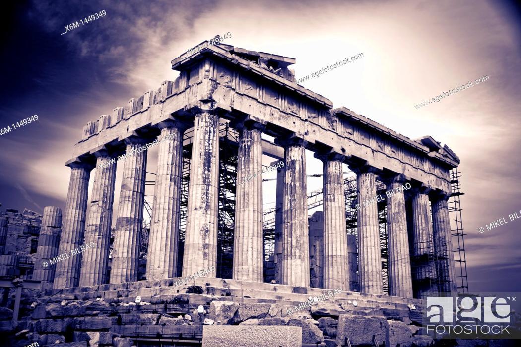 Stock Photo: Parthenon, Acropolis, Athens, Greece.