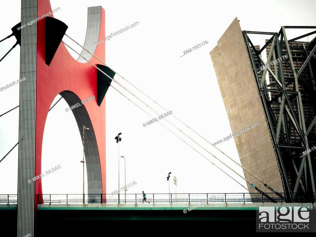 Stock Photo: Guggenheim Museum of Art  Bilbao  Biscay, Basque Country  Spain  Europe.