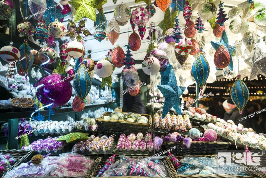 Stock Photo: Austria, Salzburgerland, Salzburg, Christmas Market, Christmas toys.