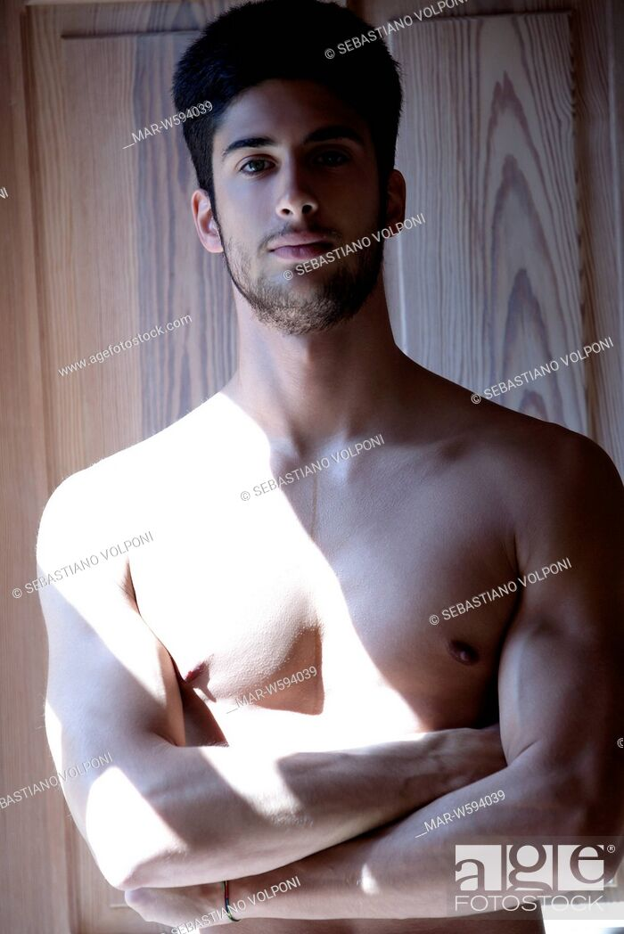 Stock Photo: bare chested man.
