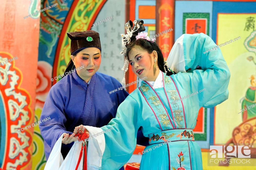 Stock Photo: Chinese opera, kuching, sarawak, malaysia.