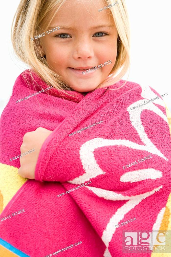 Stock Photo: Girl in a towel.