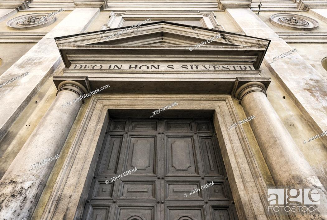 Stock Photo: Church of San Silvestro al Quirinale, Rome, Italy.
