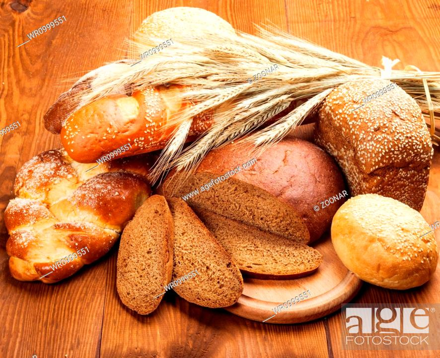 Stock Photo: baked bread.