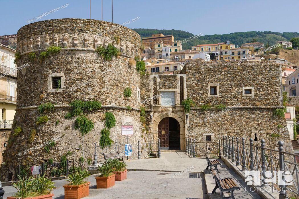 Stock Photo: Castello Aragonese di Pizzo Calabro, Aragonese Castle, Pizzo or Pizzo Calabro, Vibo Valentia, Calabria, Southern Italy, Italy.