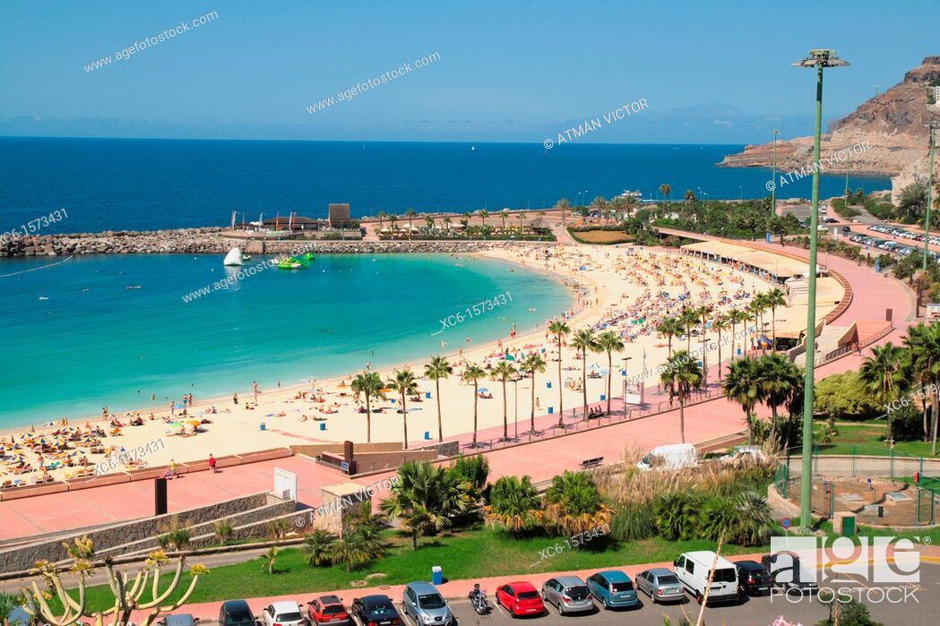 Stock Photo: Amadores beach in Gran Canaria, Canary Islands, Spain.