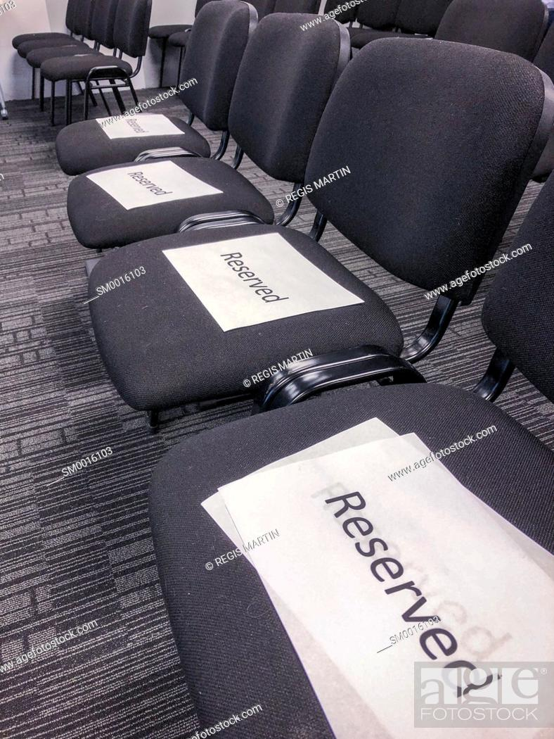 Stock Photo: Reserved seats.