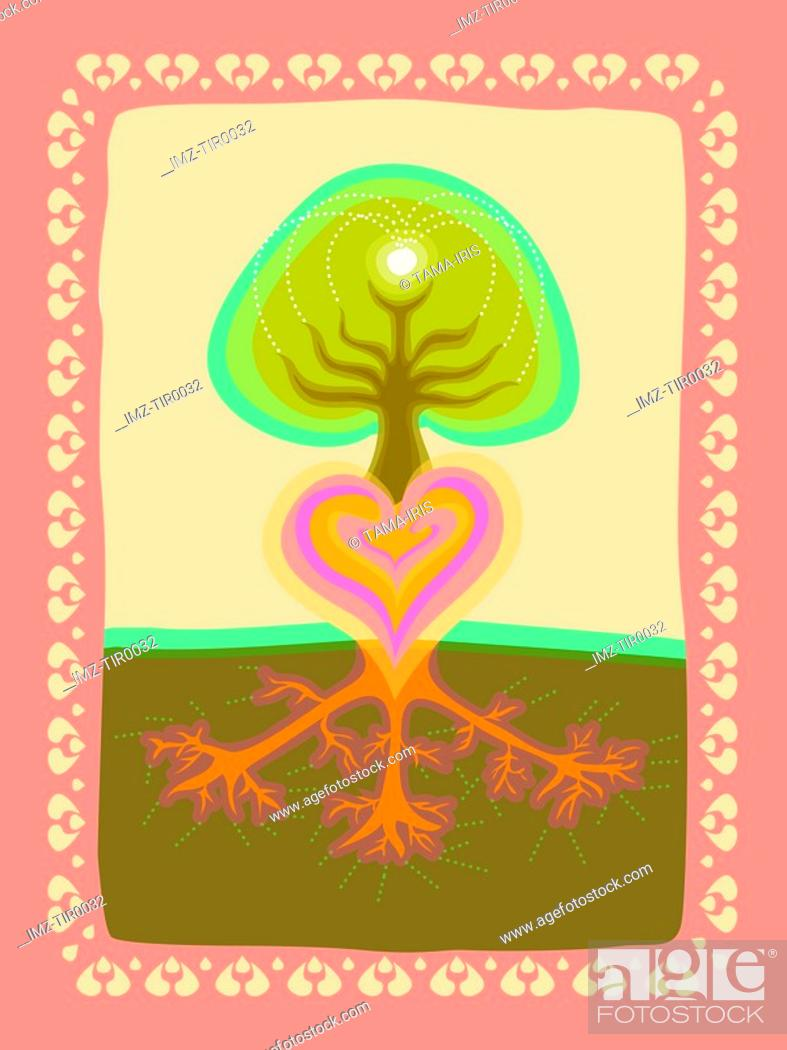 Stock Photo: Tree love.