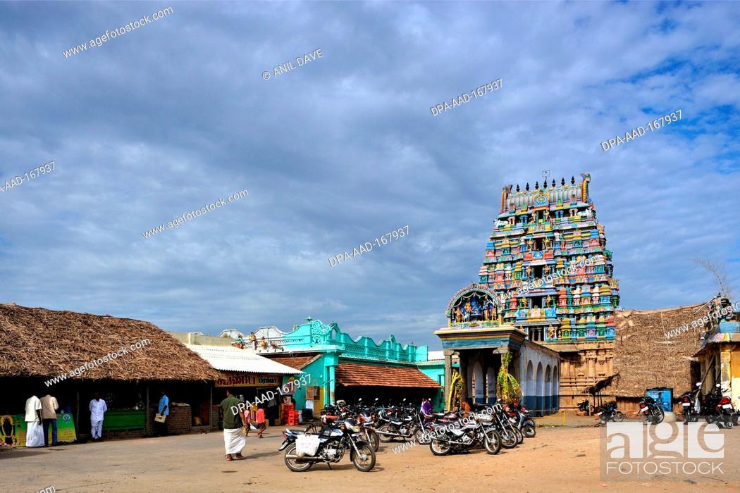 Stock Photo: Brahma Brahmapureeswarar temple , Tirupattur Thirupattur , Trichy Tiruchchirappalli , Tamil Nadu , India.