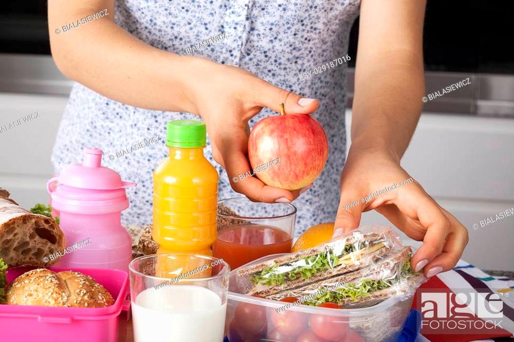 Stock Photo: Healthy meal for a child prepared by mum.