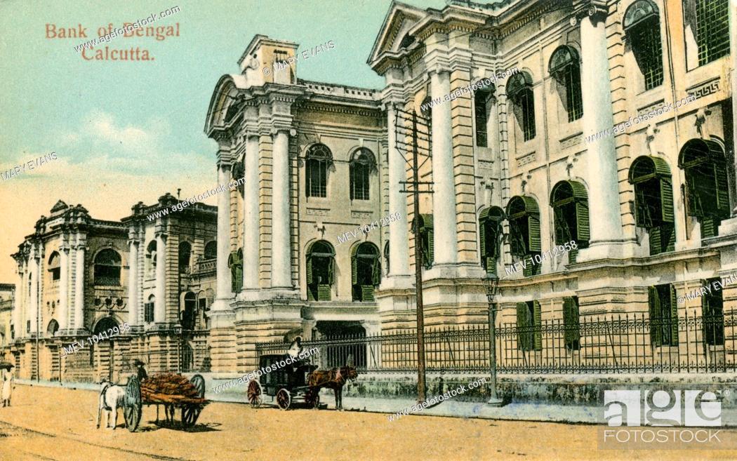 Stock Photo: Calcutta, India - Bank of Bengal.