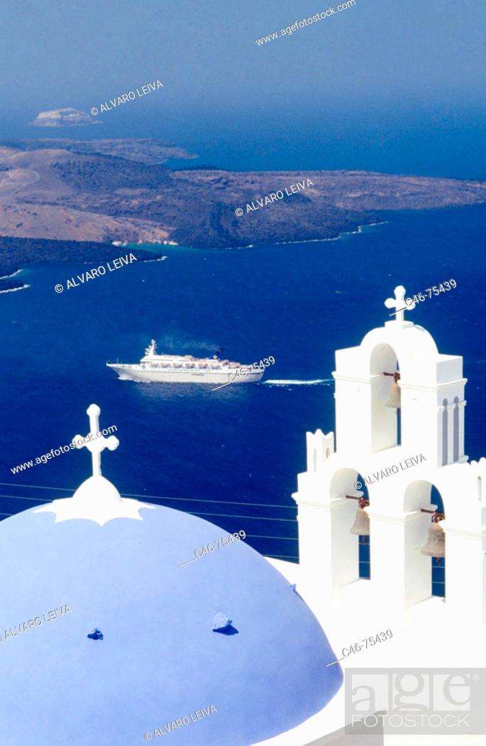 Stock Photo: Church, Santorini. Greece.