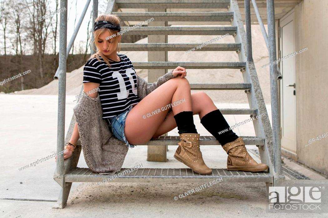 Stock Photo: Young women posing in a casual look, fashion.