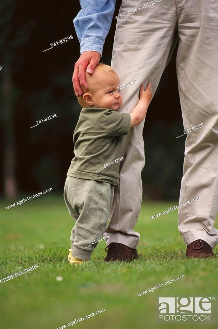 Stock Photo: Father and baby.
