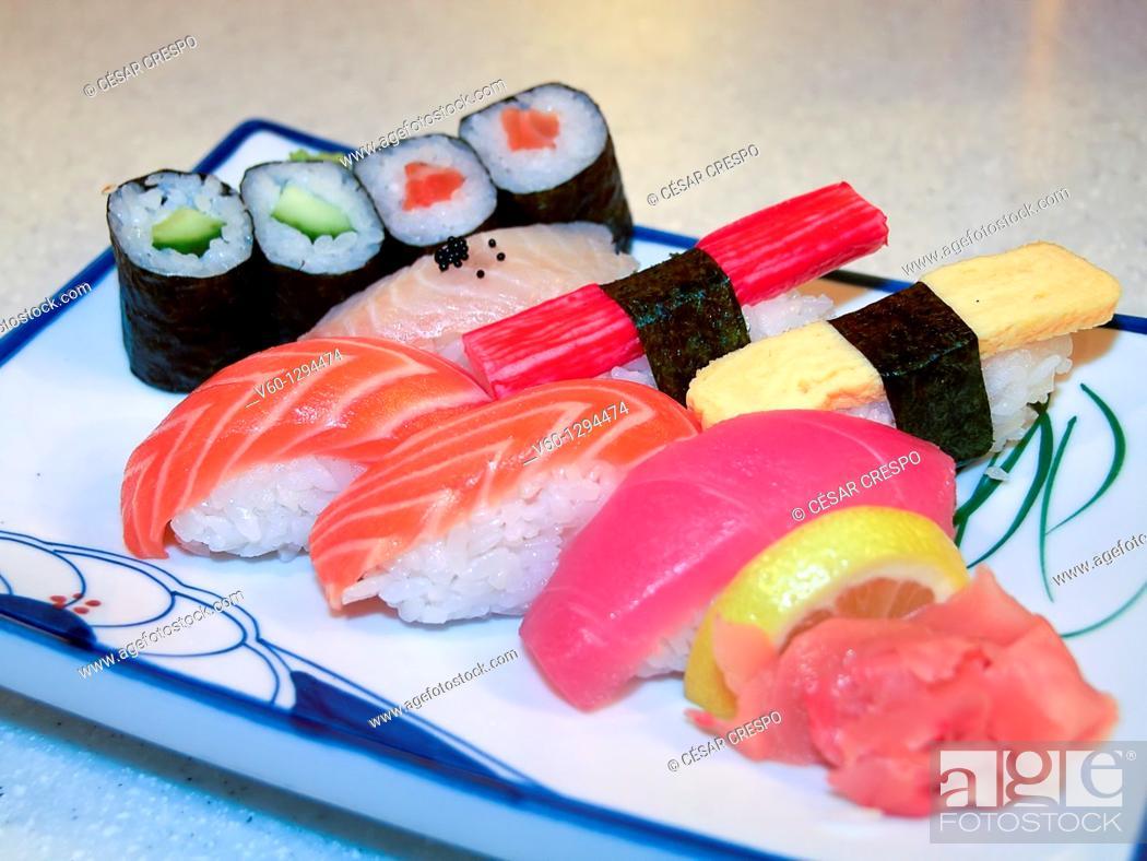 Stock Photo: -Fresh Japanese Food-.