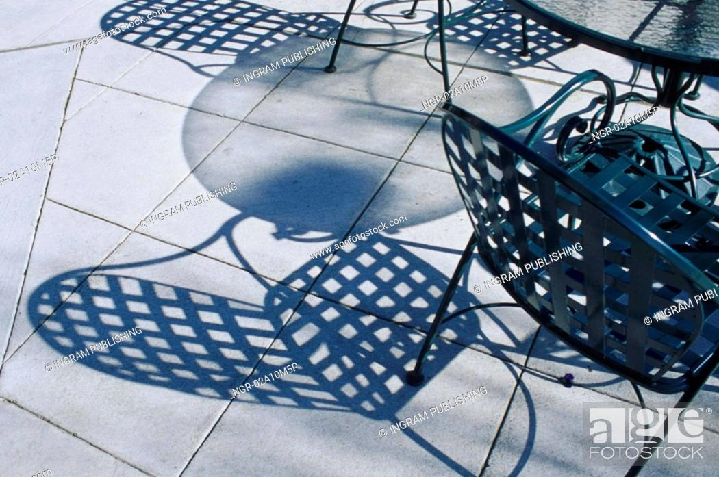 Stock Photo: Chair Shadows.