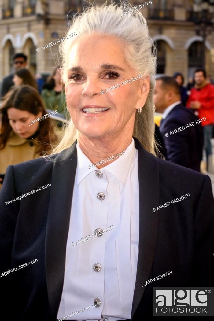 Stock Photo: PARIS, FRANCE - May 02 : Actress Ali McGraw attends the CHANEL J12 party on Place Vendome on May 02, 2019 in Paris, France. (Photo by Ahmed Hadjouti).