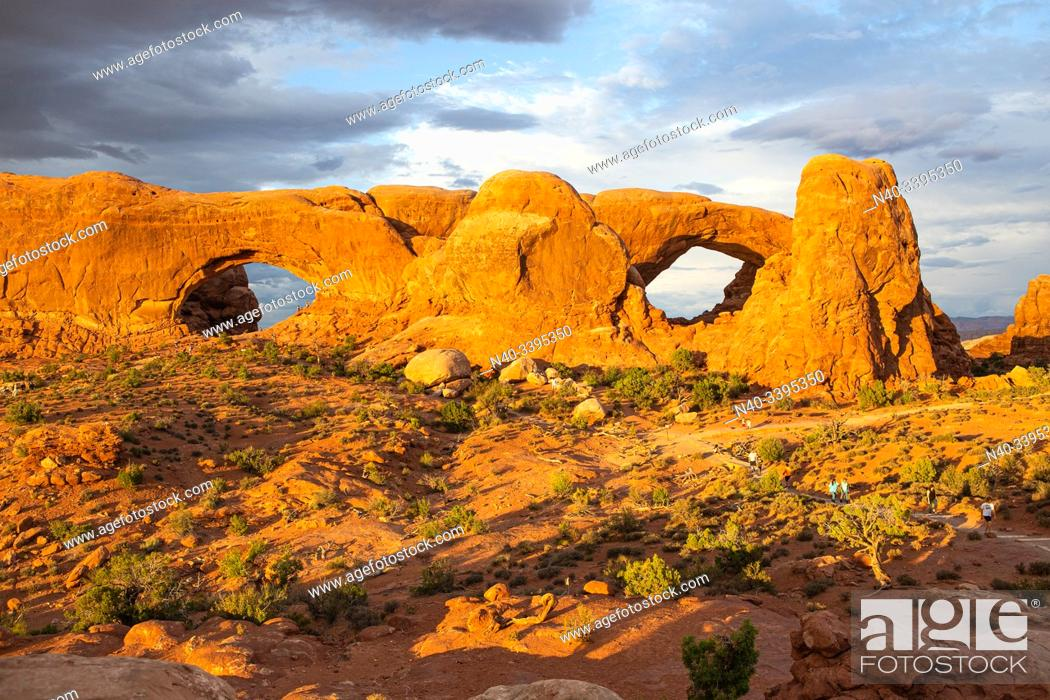 Stock Photo: Arches Nat. Park, Moab, Utah, United States.
