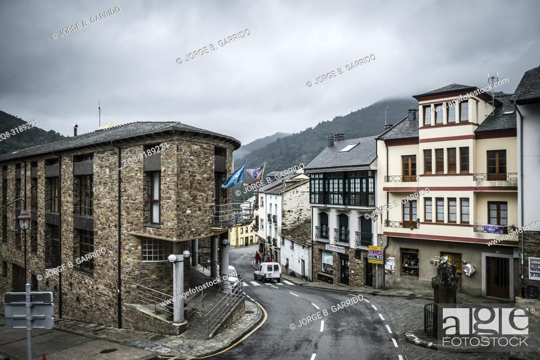 Stock Photo: Taramundi, small and beatiful village in the midle of the mountains, Asturias, Spain.