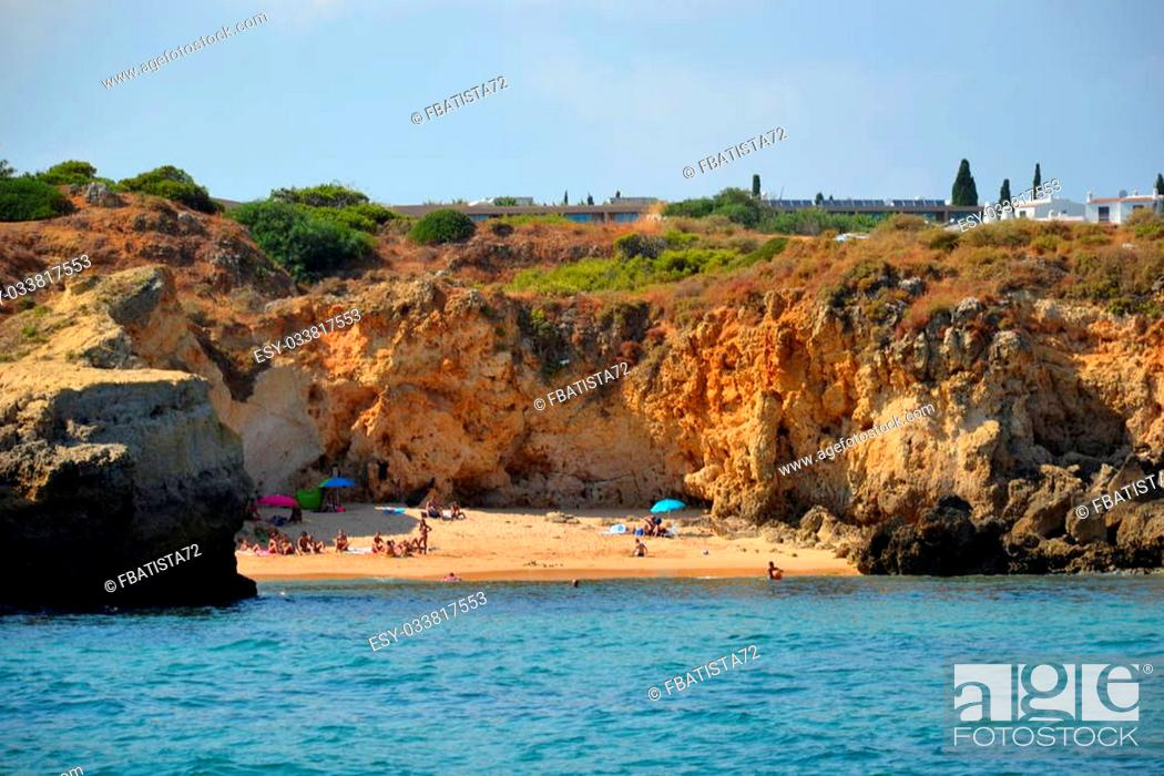 Stock Photo: Beach S?o Rafael, Albufeira, Algarve, Portugal, summer.
