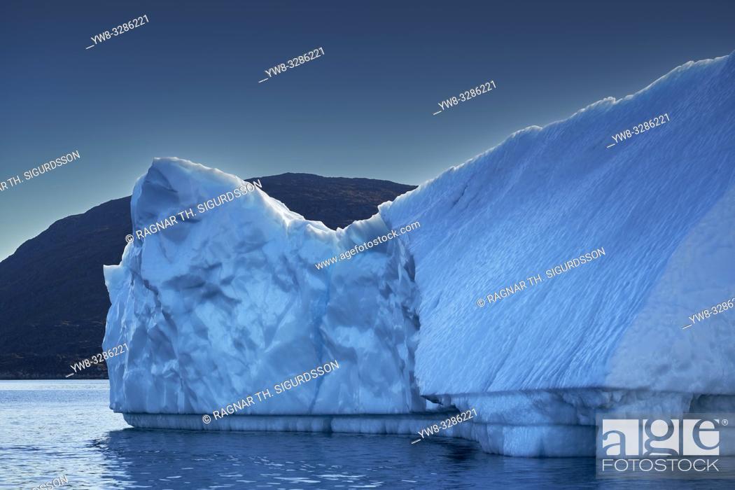 Stock Photo: Icebergs, Icefjord, Greenland.