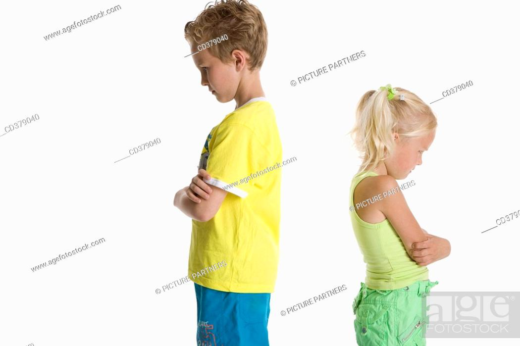 Stock Photo: Portrait of brother and sister.