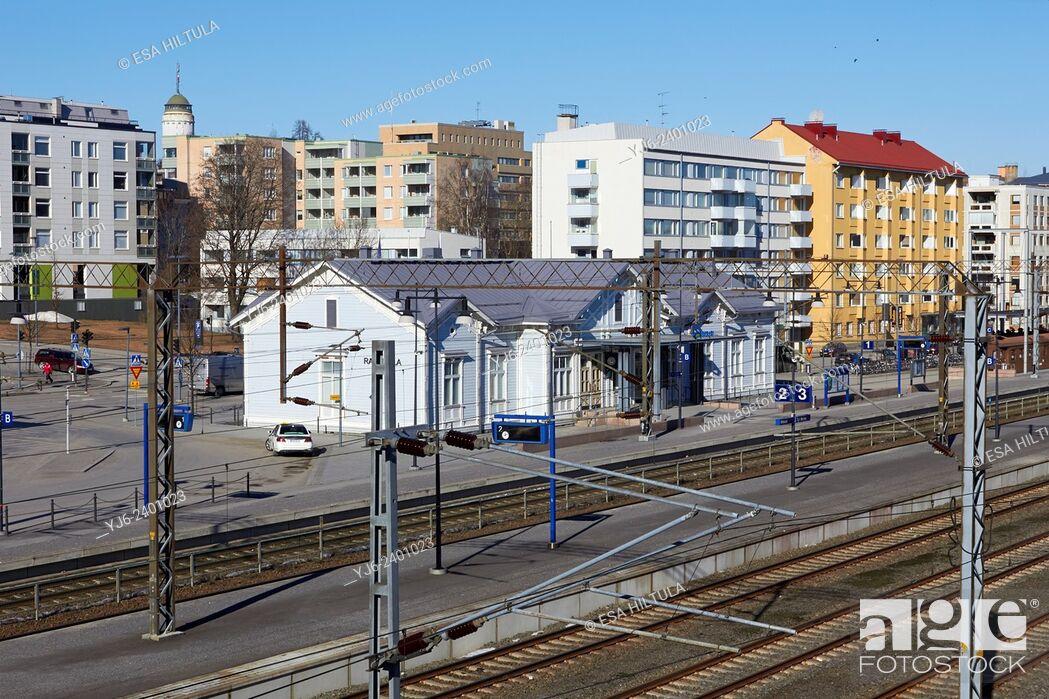 Stock Photo: Mikkeli railway station, Finland.