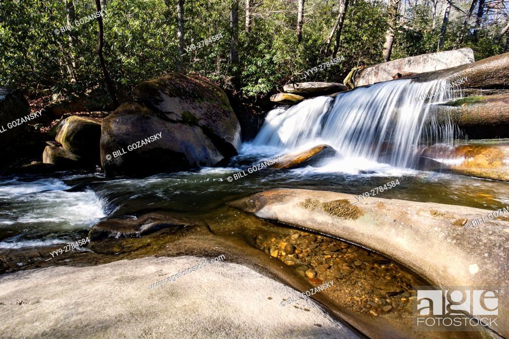 Stock Photo: French Broad River near Living Waters - Balsam Grove, North Carolina USA.