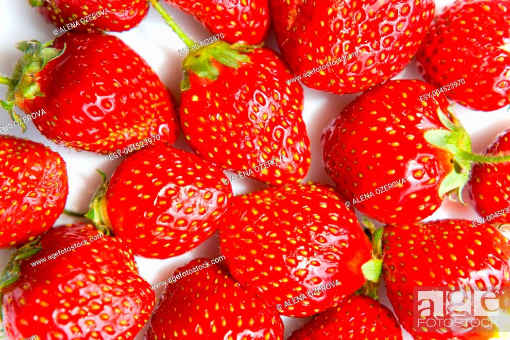Stock Photo: Strawberry background.