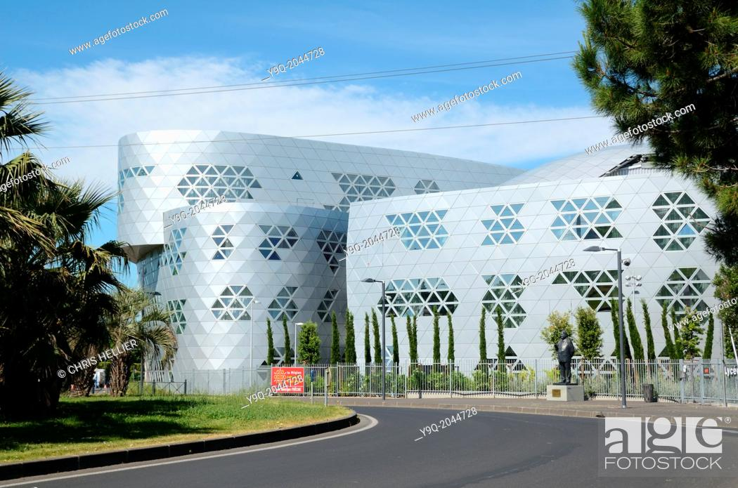 Stock Photo: Lycée Georges Fréche by Massimiliano Fuksas Montpellier France.