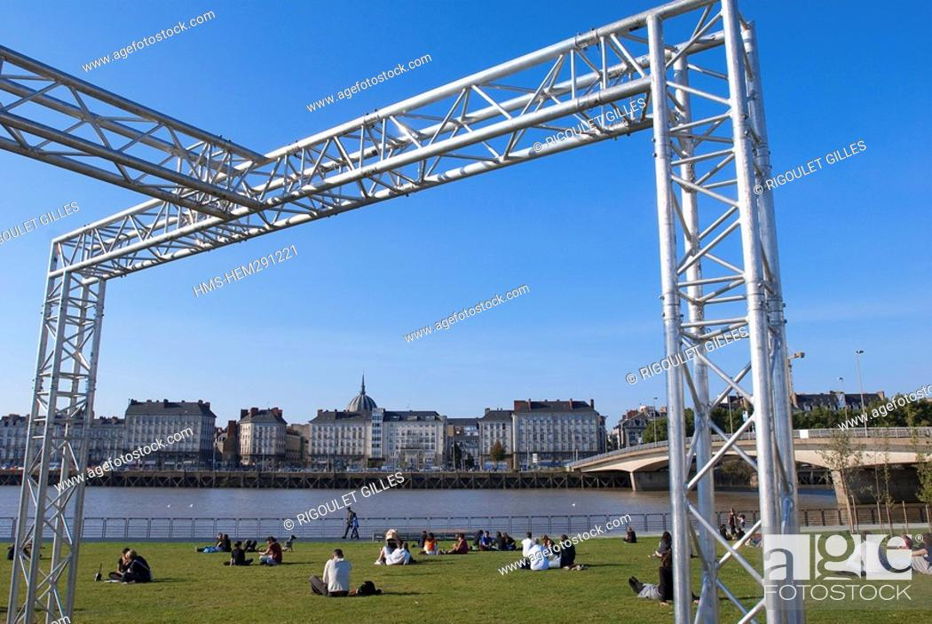 Stock Photo: France, Loire Atlantique, Nantes, Isle of Nantes, the Jardin des Berges.