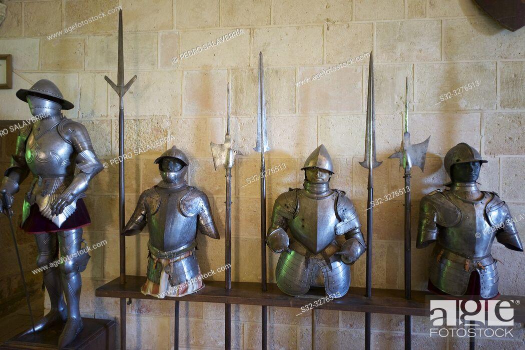Stock Photo: Royal artillery school museum in the Alcazar of Segovia, Castilla Leon, Spain.