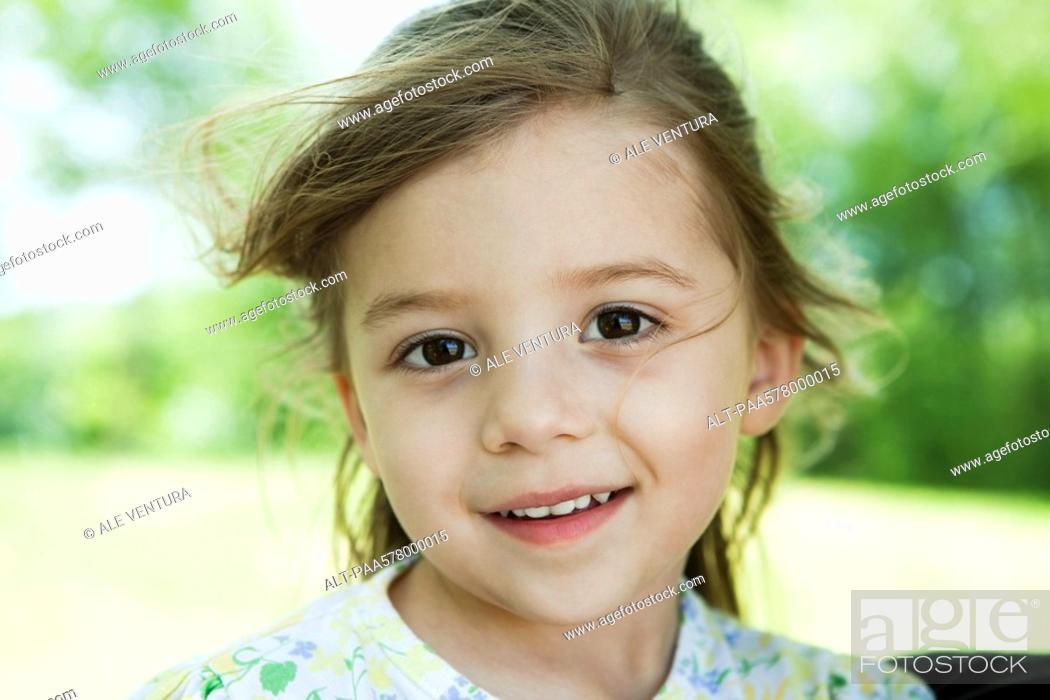 Stock Photo: Little girl, portrait.