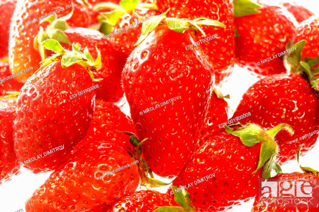 Stock Photo: Red strawberry.