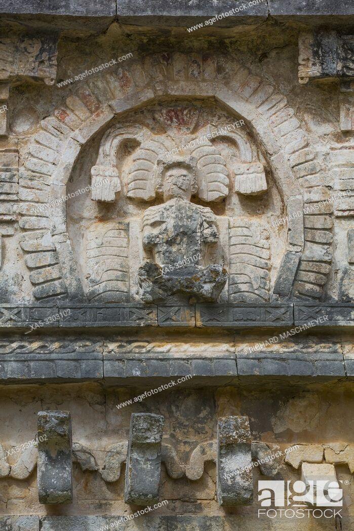 Imagen: Sculpture, Iglesias (Church), Chichen Itza, UNESCO World Heritage Site, Yucatan, Mexico.