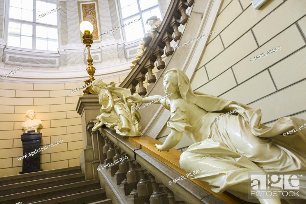 Stock Photo: Staircase. National Museum of Slovenia. Ljubljana. Slovenia, Europe.