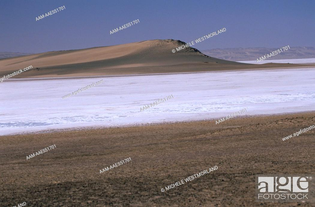 Stock Photo: Salt Pan, only happens about once every 10 years, Skeleton Coast, Namibia.