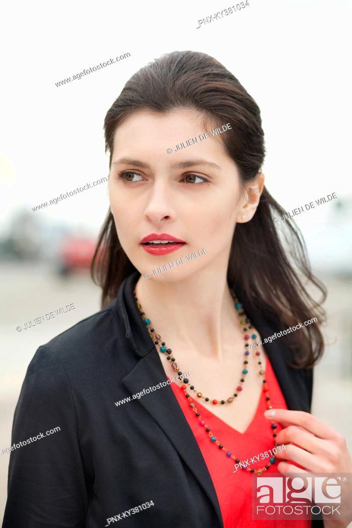 Stock Photo: Close-up of a beautiful woman.