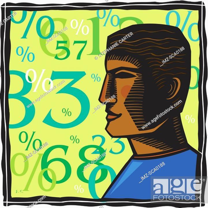 Stock Photo: interest rates.