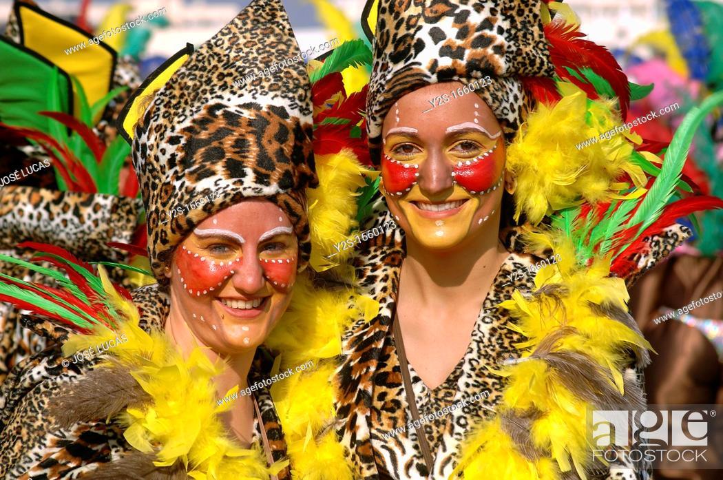 Stock Photo: Carnival, Isla Cristina, Huelva-province, Spain,.
