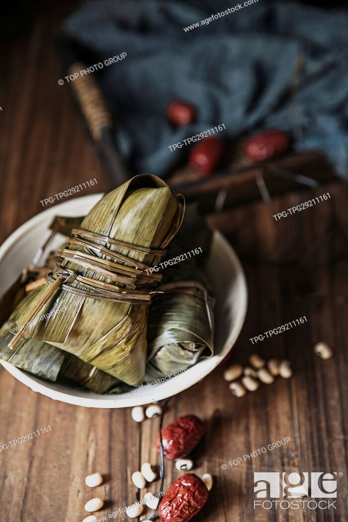 Imagen: Close up shot of rice dumpling.