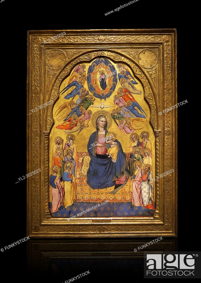 Stock Photo: Gothic altarpiece of Madonna Of Humility With The Eternal Father In Glory, by Cenni di Francesco di Ser Cenni of Florence, circa 1375-80.