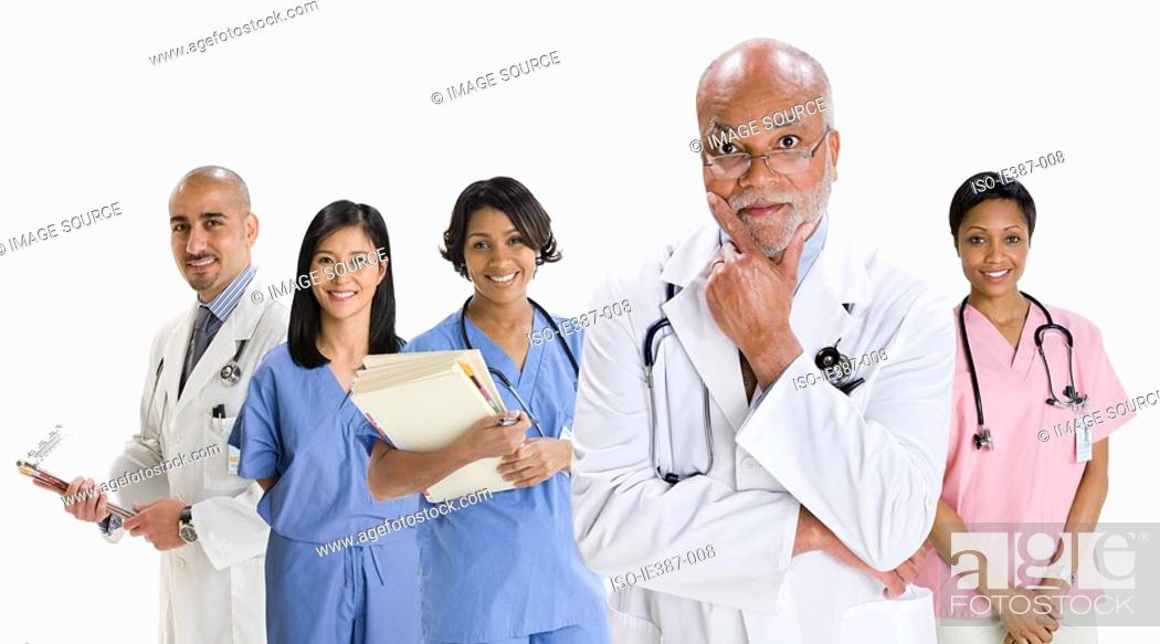 Stock Photo: Portrait of doctors and nurses.
