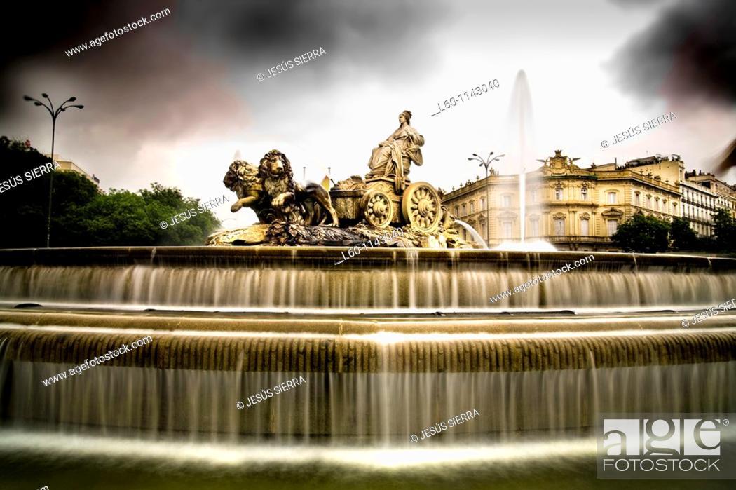 Stock Photo: Cibeles fountain Madrid Spain.
