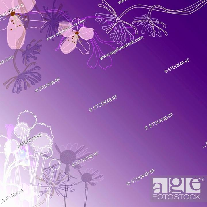Stock Photo: Abstract illustration with flowers.