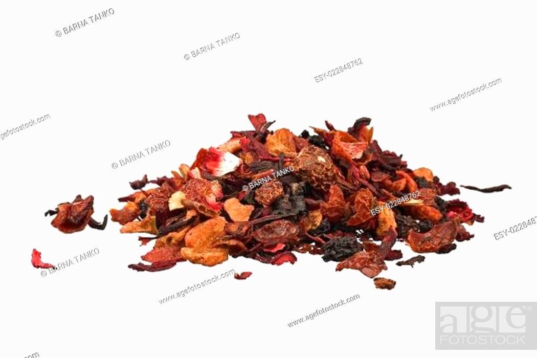 Stock Photo: dried fruit tea.