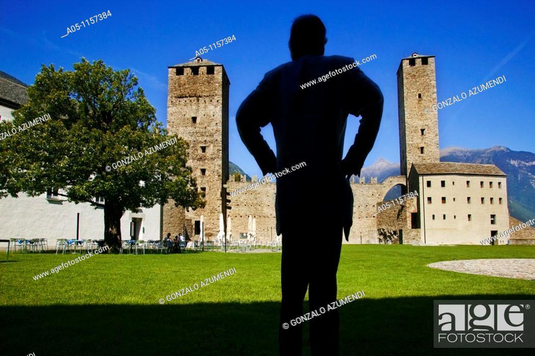 Stock Photo: Castelgrande. Bellinzona.Ticino. Switzerland.